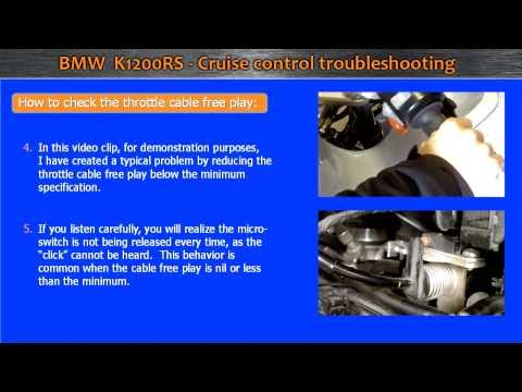 BMW K1200RS - Cruise control toubleshooting - YouTube