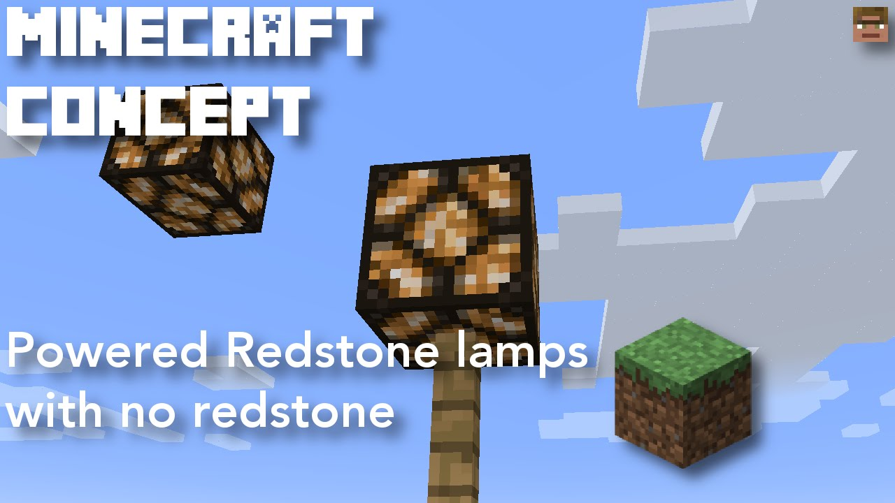 [Minecraft 17.172] Powered Redstone lamps with no redstone  Minecraft  concept [Creative mode]