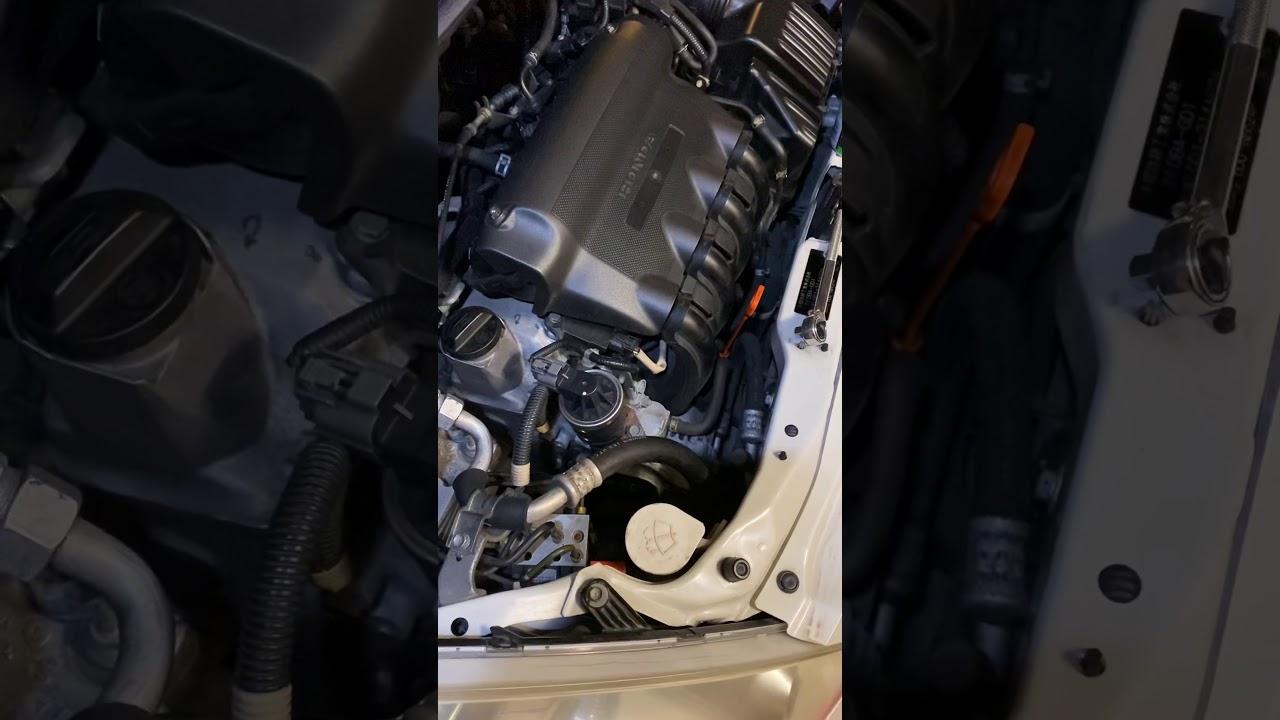 Honda Fit Jazz 2004 Serpentine Belt Tension Adjust - YouTube