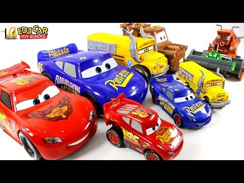 Learning Color Disney Cars Lightning McQueen mack truck Play for kids car toys