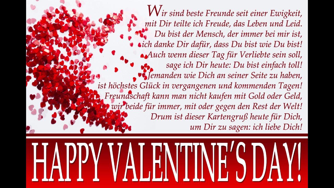 Valentinstag Grußkarte An Die Besten Freunde Youtube