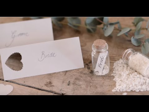 DIY Place Cards And Wedding Table Decorations By Sstrene Grene