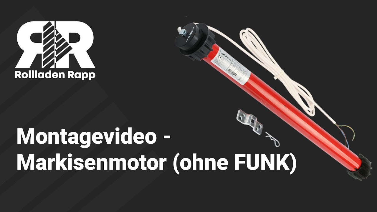 Montagevideo Markisenmotor Ohne Funk Youtube