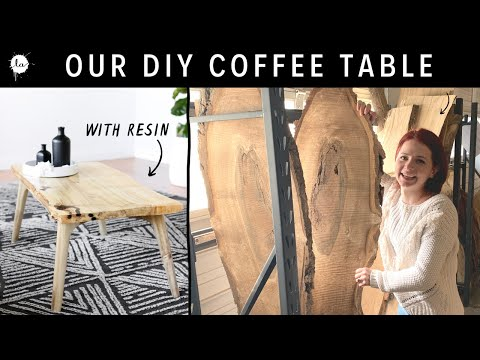 How We Made Our Live Edge Coffee Table From A Slab | DIY | Mid Century Modern