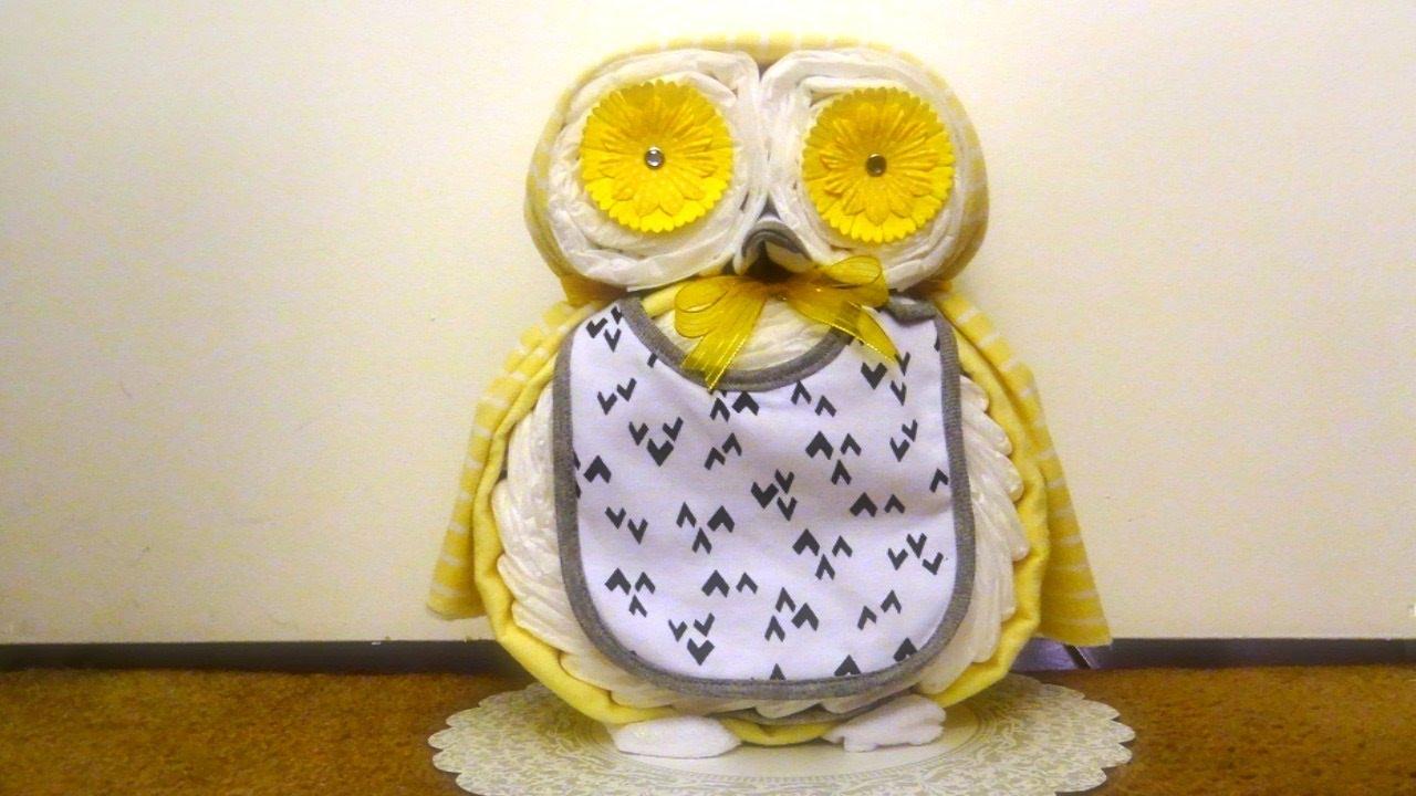 Owl diaper cake youtube owl diaper cake baditri Gallery