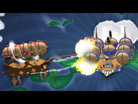 BIGGEST AIRSHIP BATTLES EVER!! - Airmen - Giant Airship Creation (Airmen Game / Gameplay)