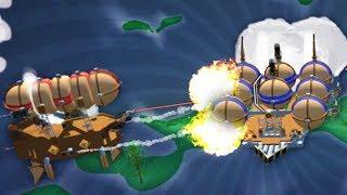 BIGGEST AIRSHIP BATTLES EVER!! - Airmen - Giant Airship Creation (Airmen Game / Gameplay)