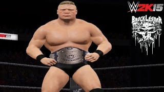 "WWE 2K15 PC Mod: Brock Lesnar ""Next Big Thing"" Retro 2002 Removed Sword Tatto & Titantron Entrance"