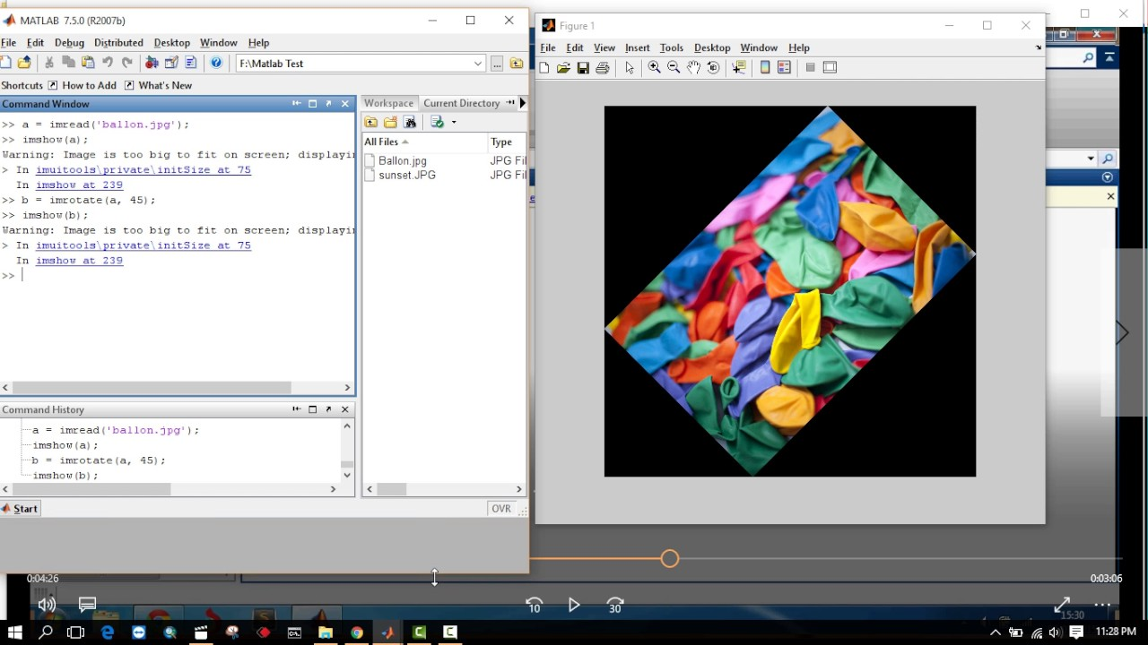 Use of Picture Processing Instruments in Matlab – Advanced