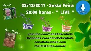 Resultado 22/12/2017  - Quina Concurso 4563 -  Lotofacil  concurso 1602 -  Lotomania Concurso 1825