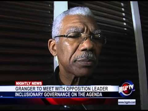 GRANGER TO MEET WITH OPPOSITION LEADER