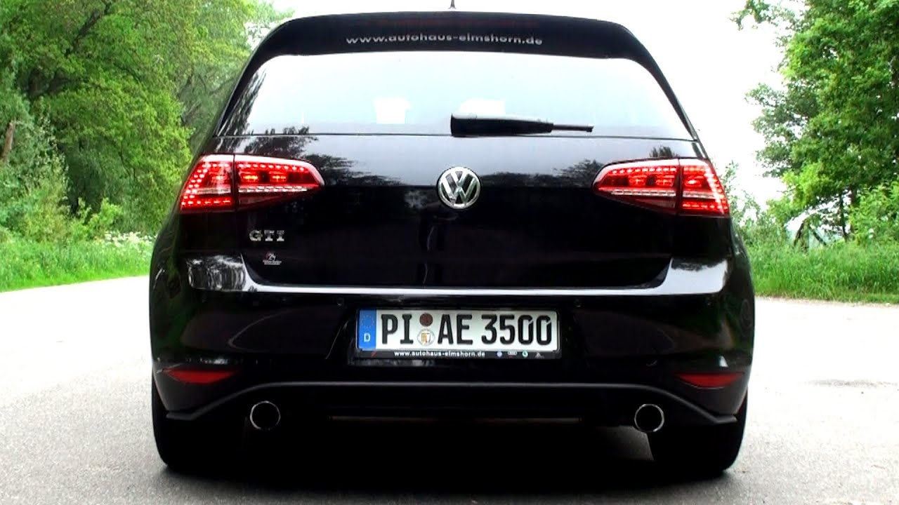 motor und sound vw golf 7 gti vii 2013 exhaust. Black Bedroom Furniture Sets. Home Design Ideas