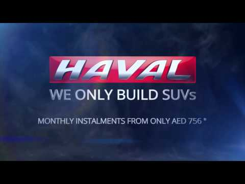 HAVAL SUVs instalments from AED 756 a month