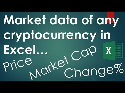 Market Data Of Any Cryptocurrency (Bitcoin, Ether, ...) Into Excel (Macro Included)