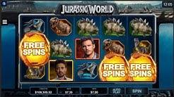 BIG WIN On Jurassic World Slot Machine From Microgaming