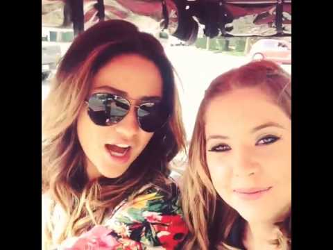 "Shay Mitchell and Ashley Benson SINGING ""GOOD MORNING"" song!! (8/8/2013)"