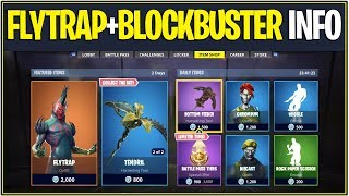*NEW* Fortnite: FLYTRAP SKIN RELEASED AND BLOCKBUSTER DISCUSSION! (Store Update)