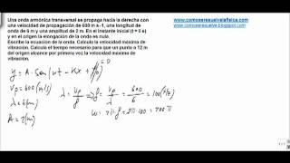 Fisica movimiento ondulatorio escribe la ecuacion de onda