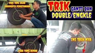 trik yang benar cara ganti ban Mobil engkle/double||hino mobil