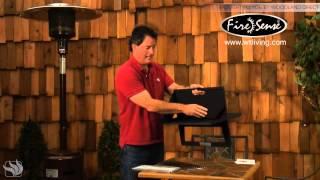 Fire Sense Hotspot Notebook Charcoal Grill