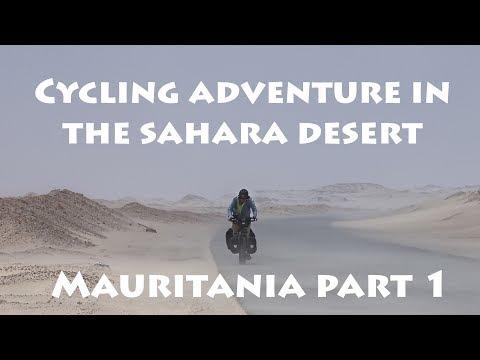 Cycling in the Sahara desert, Mauritania