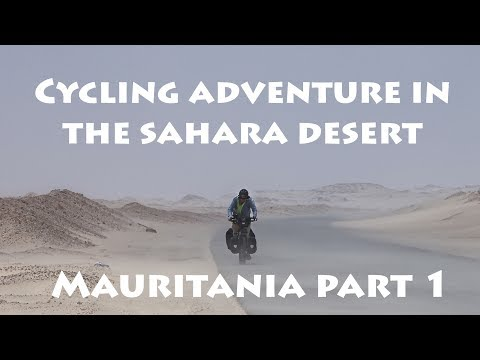 Cycling in the Sahara desert, Mauritania