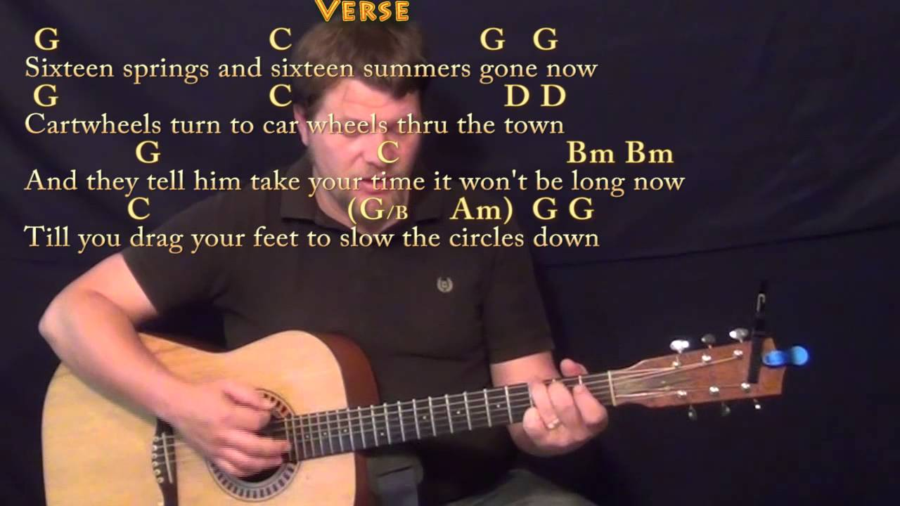 Circle Game Joni Mitchell Strum Guitar Cover Lesson In G With