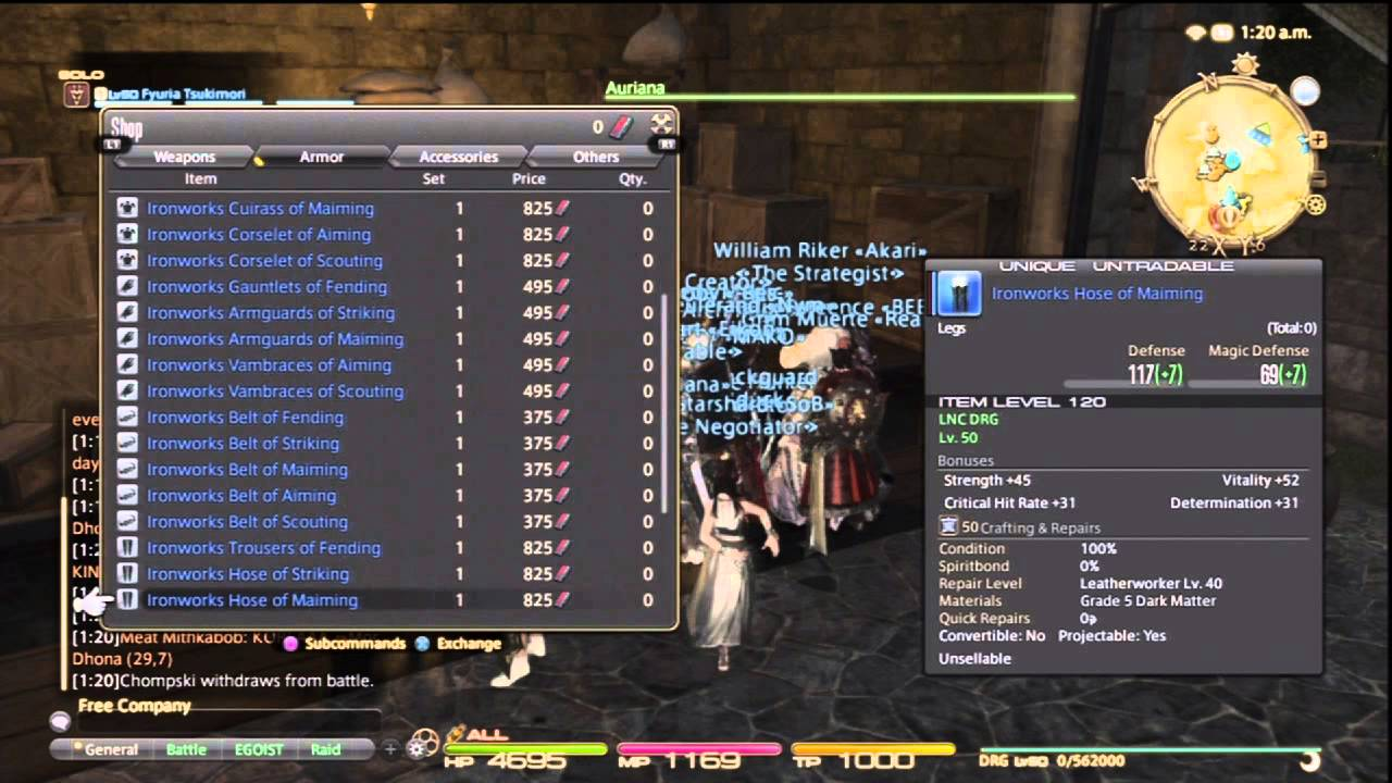 Final Fantasy XIV - Poetics Gear Previewing (Try On) *Patch 2 4*