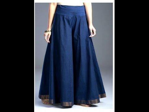 How To Stitch Circular Palazzo Divided Skirt Wide Leg