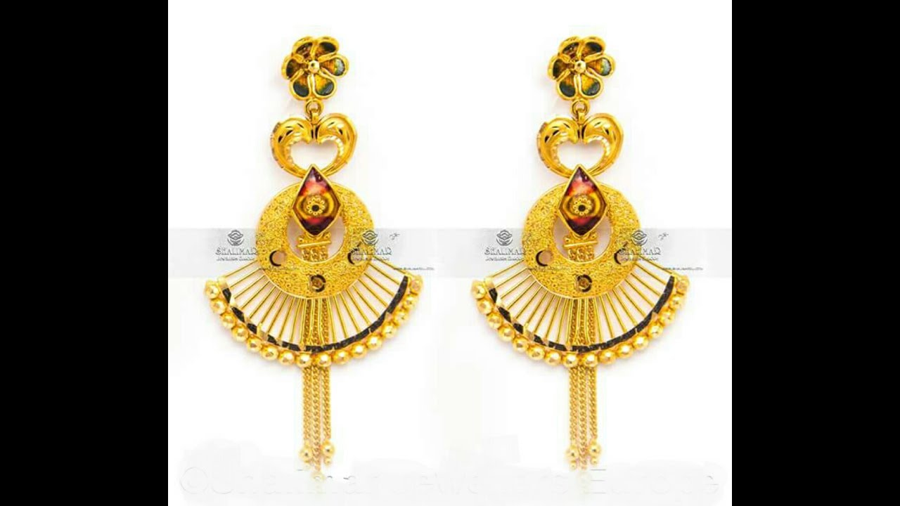 New Gold Earrings designs 2017 collection/Earrings designs in gold ...
