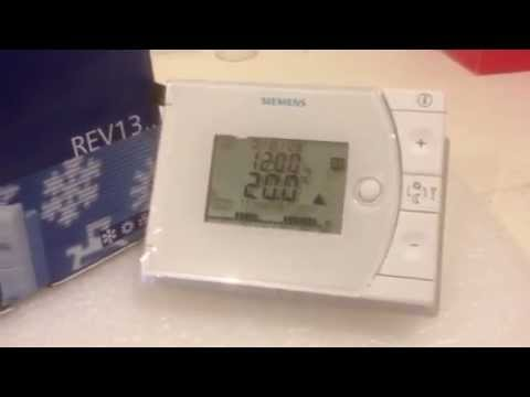 Siemens rev13 24 hour programmable room thermostat youtube - Cronotermostato siemens rev 24 ...