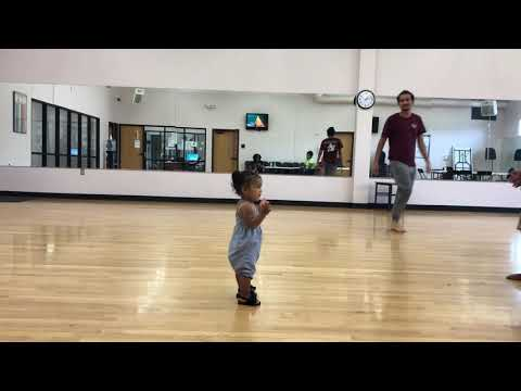 1 year old doing backflips!