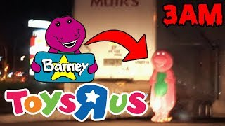 DONT GO TO TOYS R US AT 3AM OR BARNEY.EXE WILL APPEAR | HAUNTED BARNEY.EXE CAUGHT ON CAMERA (CREEPY)