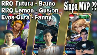 Ketika RRQ Tuturu Pake Maksman(Bruno),RRQ Lemon Gusion & Evos.Oura Fanny Jadi 1 Tim,Siapa MVP nya?