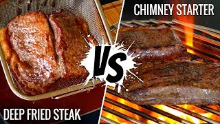 CHIMNEY STARTER vs DEEP FRIED! Best way to sear SOUS VIDE STEAKS - Series E4
