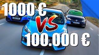 AUTO 1000€ VS AUTO 100.000€ ?!