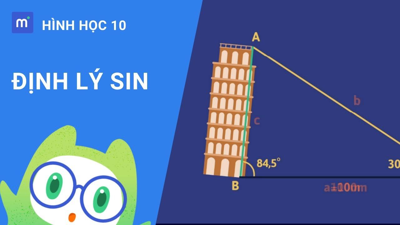 Định lý sin | Hình học 10