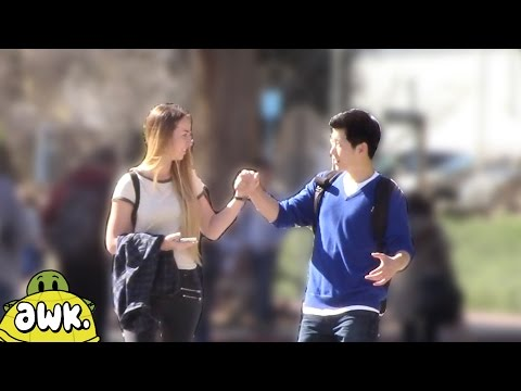 How Will a Girl React if a Stranger Holds Her Hand?