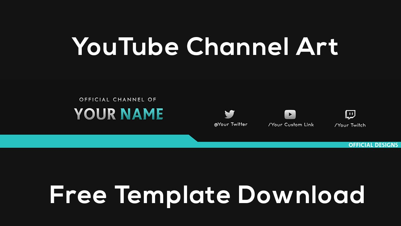 YouTube Channel Art | Free Template Download - Photoshop CS6 - YouTube