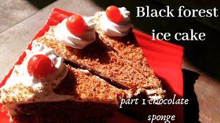 Black forest ice cake part 1(chocolate sponge) yummy and delicious   recipe| easy recipe  #icecake