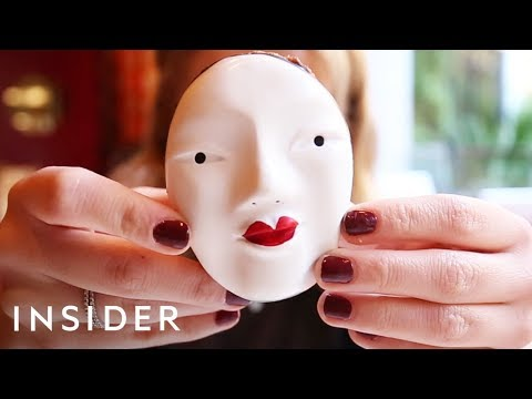 Chocolate Japanese Theater Masks Are Creepily Delicious