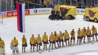 Гимн России после разгрома шведов  матч Швеция Россия 47  21 мая ЧМ 2019 Братислава