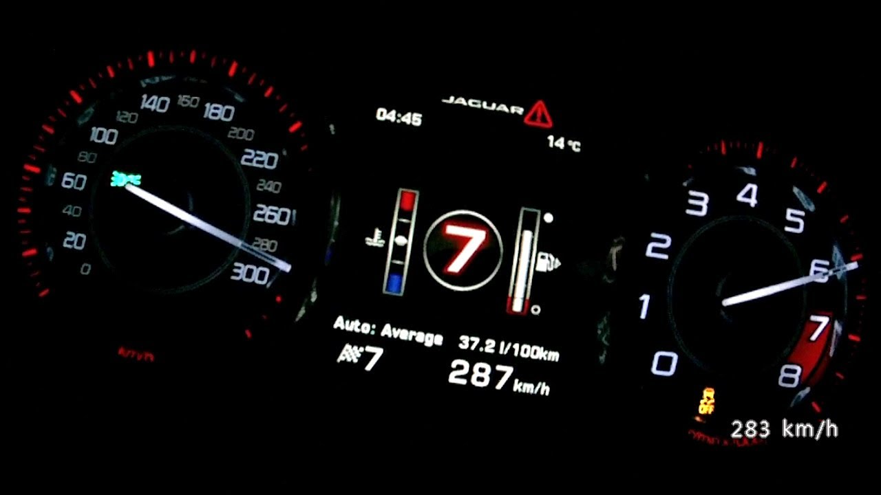 Jaguar F Type S 2013 Acceleration 0 270 Km H Top Speed Test And