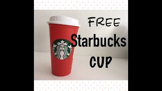 Starbucks FREE Reusable Holiday Coffee Cup