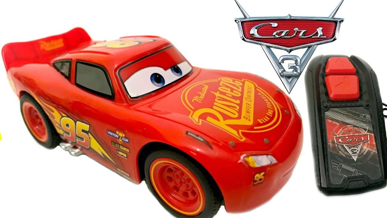 Disney Pixar Cars Movie Toys Rc Lightning Mcqueen Unboxing