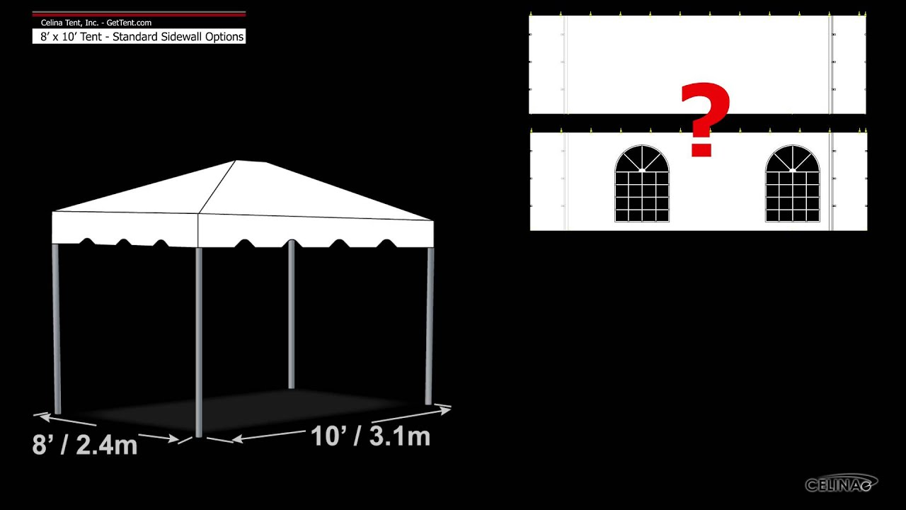 sc 1 st  YouTube & 8u0027 x 10u0027 Tent u0026 Canopy - Standard Sidewall Options - YouTube