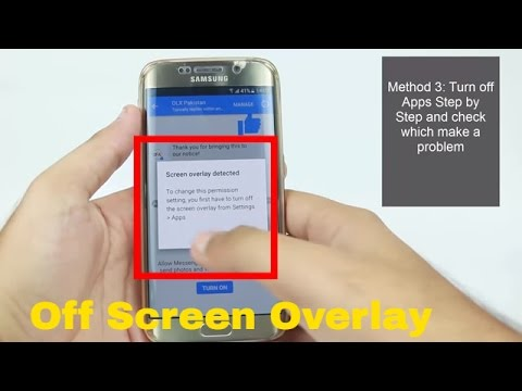 How to turn off screen overlay detected Any Android Phone