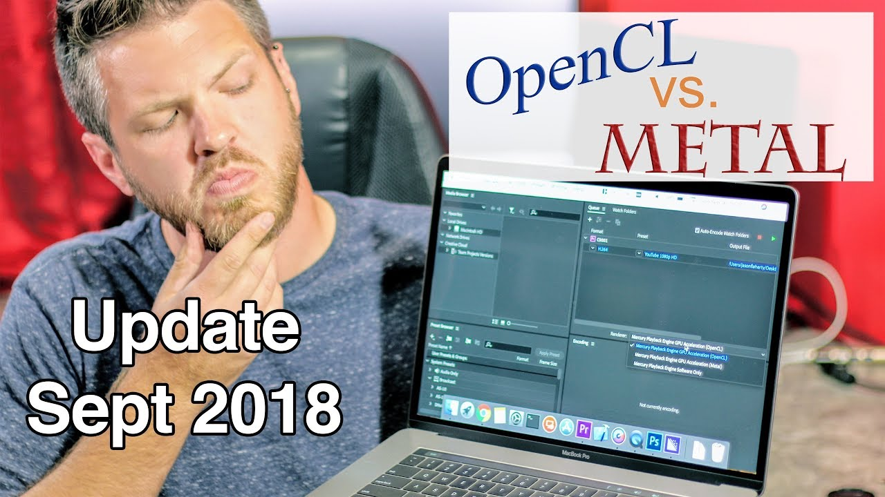 OpenCL vs Metal for Adobe Rendering on a Mac, September 2018