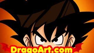 How to Draw Goku Easy, Dragon Ball Z, Step by Step