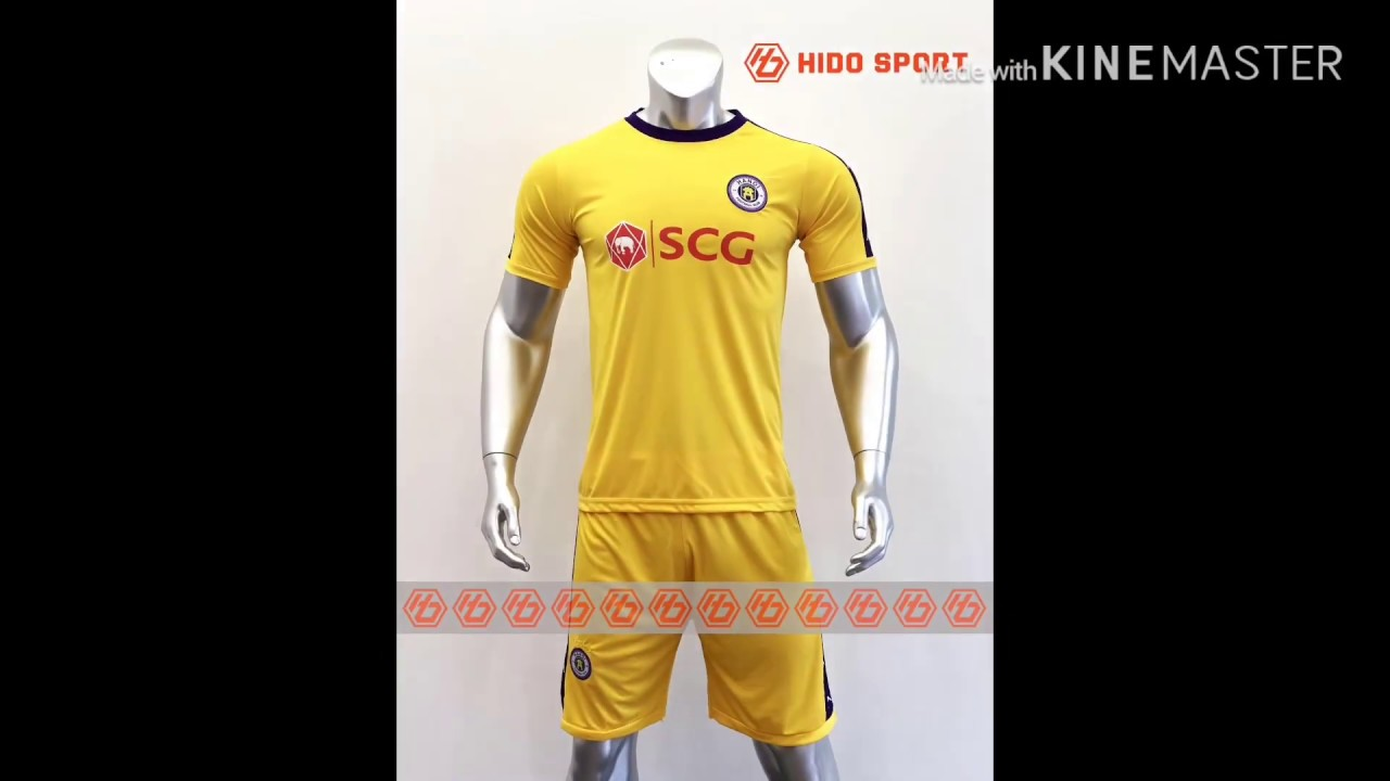 Quần áo bóng đá CLB HÀ NỘI màu VÀNG đồ đá banh mới 2019-20.